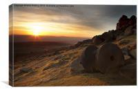 Stanage Edge Sunset, Canvas Print