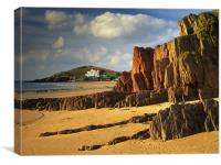 UK,Devon,Bigbury On Sea & Burgh Island, Canvas Print