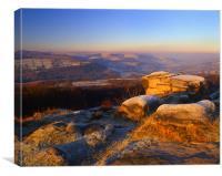 Winter Landscape on Millstone Edge, Canvas Print