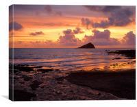 Wembury Bay Sunset, Canvas Print