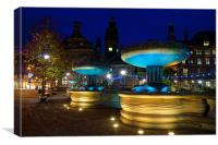 Sheffield Town Hall & Entrance to Peace Gardens, Canvas Print