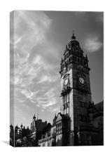 Sheffield Town Hall in Mono, Canvas Print