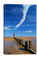 Cleethorpes Beach at Low Tide, Canvas Print