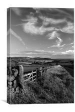 View Towards Over Owler Tor & Millstone Edge, Canvas Print
