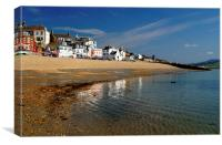 Lyme Regis Main Beach & Seafront, Canvas Print