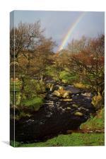 Rainbow over Burbage Brook, Canvas Print