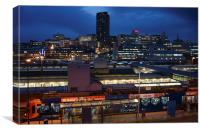 Sheffield Skyline at Night, Canvas Print