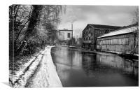 Sheffield Canal Frozen, Canvas Print