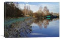Tinsley Marina Reflections, Canvas Print