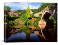 Froggatt Bridge and River Derwent, Canvas Print