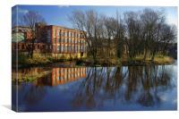 River Don at Kelham Weir, Canvas Print
