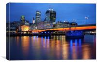 London Bridge Reflections, Canvas Print