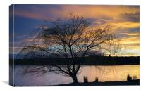 Rother Valley Sunset, Canvas Print