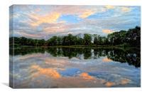 Chard Reservoir at Dawn, Canvas Print