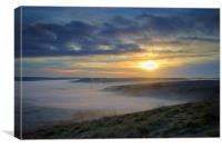 Sunrise over Hope Valley Mist, Canvas Print