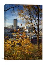 Sheffield Skyline from Park Hill, Canvas Print