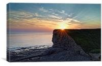Sunset over Nash Point , Canvas Print