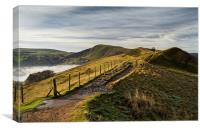 Misty Morning on the Great Ridge , Canvas Print