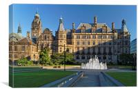 Sheffield Town Hall and Peace Gardens  , Canvas Print