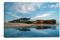 Coastline at Budleigh Salterton                   , Canvas Print