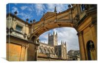 Bath Abbey and Arch                    , Canvas Print