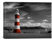 Smeatons Tower on Plymouth Hoe, Canvas Print
