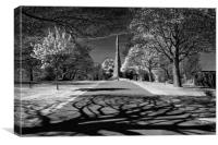 Cholera Monument, Infra Red                       , Canvas Print