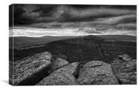 Win Hill under Stormy Skies                       , Canvas Print