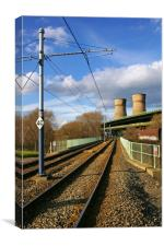 Tram Lines and Tinsley Cooling Towers, Canvas Print