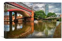 Castlefield and Beetham Tower, Manchester         , Canvas Print