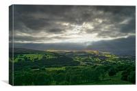 Hope Valley Light Rays                       , Canvas Print