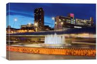 Sheaf Square,Sheffield., Canvas Print