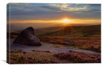 Higger Tor Sunset                               , Canvas Print