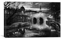 Pulteney Bridge and River Avon in Bath            , Canvas Print