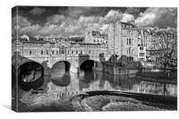 Pulteney Bridge & River Avon in Bath, Canvas Print