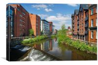 Lady's Bridge & River Don, Sheffield              , Canvas Print