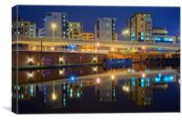 Victoria Quays at Night                          , Canvas Print