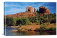 Red Rock Crossing , Canvas Print