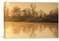 Misty Winter Morning, Canvas Print