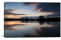 Sunrise on the River Trent, Canvas Print