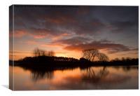 Sunrise at Colwick Park, Canvas Print