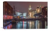 Liverpool at night, Canvas Print