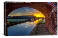 The bridge of dawn, Canvas Print