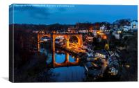 Knaresborough Viaduct at night, Canvas Print