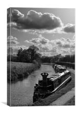 Narrow Boats, Canvas Print