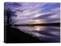 River Axe Axmouth, Canvas Print
