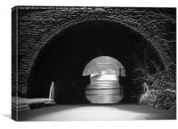 Newbold Tunnel Black and White, Canvas Print