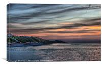 Sunset on Cromer Cliffs, Canvas Print