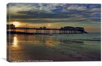 Cromer Pier at sunset, Canvas Print