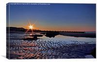 Sunset at Walcott Beach, Canvas Print